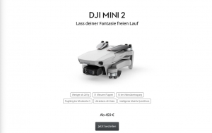 DJI Mini 2 Faltbare Drohne im Miniformat mit OcuSync
